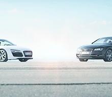 Audi R8 et S7 Sportback